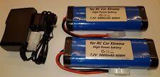 2 X 6-Zeller 7,2vV 5000mAh X-Treme Batería-rc Conector Tamiya Incl. 1 X Cargador