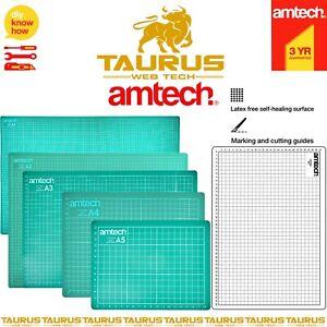 AMTECH A1 A2 A3 A4 A5 CUTTING MAT Self Healing Non Slip GRID Print Line Craft UK