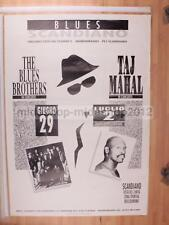 BLUES SCANDIANO 29-06-1998 MUPIEO 100X70 POSTER CONCERTO [MM 0406-A]