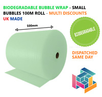 Biodegradable Green Bubble Wrap 500mm x 100m - Eco Friendly - 100% Recyclable