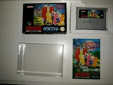 The Addams Family Pugsley's Scavenger Hunt SNES boxed manual 0.5mm box protec