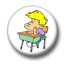 Bored 1 Inch / 25mm Pin Button Badge Meh Fed Up Not Interested Cute Cartoon Fun