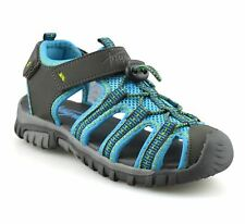 Non-Slip Summer Shoes Kids Boys Open Toe Three Strap Walking Sandals Durable Color : Navy , Size : 6 M US Big Kid