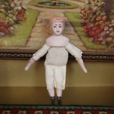 Antique Dollhouse BAHR PROSCHILD? DOLL Early 1900s Bisque Porcelain Cloth GERMAN