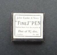 Boite plume JOHN COOKE Fine J pen nibs box Schreibfeder pennini