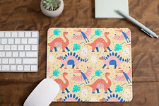 Multi Coloured Dinosaurs Style 2 Non Slip Mouse Mat / Mouse Pad