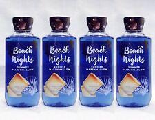 4 Bath & Body Works BEACH NIGHTS - SUMMER MARSHMALLOW Shower Gel Body Wash