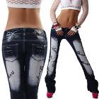 crazy age pantalon jeans pour femmes de taille basse bootcut noir broderie 34 36