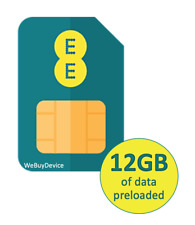 EE 4G Pay As You Go Trio Broadband SIM Card With 12GB Data for 30 Days