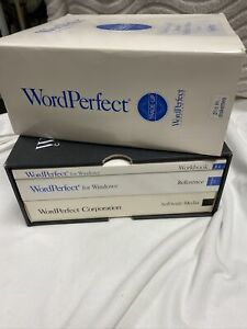 Word Perfect For WINDOWS 3.0 Trade Up Version 5.1VINTAGE 1991 Disks & Books