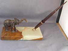 """Sheaffer White Dot Touchdown Fill Desk Set---""""Elephant""""--restored pen--fine poin"""