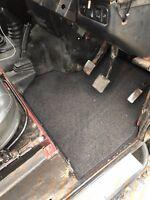 Land Rover Defender Front Mats Footwell Carpets 110 safari station wagon grey