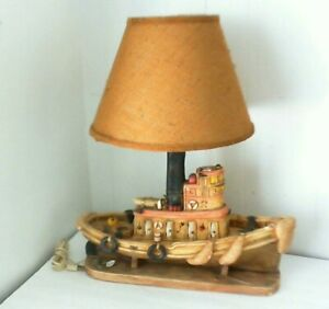 Vintage Apsit Brothers of California Ship, boat  table lamp 1981 The Albatross