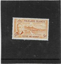 FALKLAND ISLANDS 1952 VIEW OF THE TWO SISTERS 9d. SG.179 LIGHTLY MOUNTED MINT
