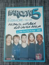 MAROON 5 - 2012 Australia Tour - OVEREXPOSED Tour - Laminated MELBOURNE Poster