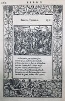 Guerre de Troie 1559 sacrifice d'Iphigénie rarissime gravure sur bois Salomon