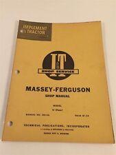 Vintage Implement & Tractor Shop Service Manual - Massey Ferguson 16 Pacer 1955