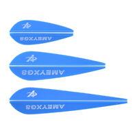 "30pc 2"" 3"" 4"" Archery Plastic Vanes Arrow Fletches Feathers Rubber Fletching DIY"