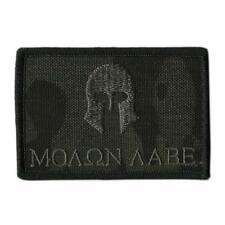 VELCRO® BRAND Hook Fastener Compatible Patches Molon Labe Multicam Black 3x2""