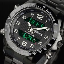 INFANTRY Mens Digital Quartz Wrist Watch Chrono Day Stainless Steel Luxury Sport