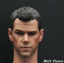 Custom 1/6 Scale Matt Damon Head Sculpt For Hot Toys Body