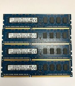4x 8GB 32GB DDR3 ECC UDIMM RAM PC3-12800E 1600 MHz ProLiant ML310e Gen8 v1 + v2
