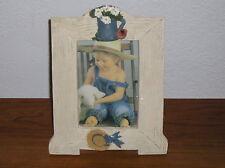 Unique Picture Frame Flower Pot Hat Spring Theme Wood 3 x 4-1/2