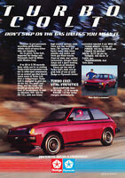 1984 Dodge Colt Turbo Classic Advertisement Ad P60