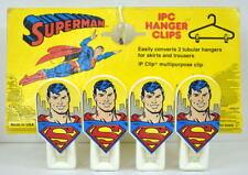 SUPERMAN HANGER CLIPS Set of 4 IPC / DC 1987 MOC