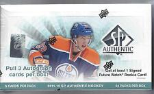 SP AUTHENTIC HOCKEY SEALED HOBBY BOX 2011-2012