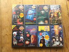 Bundle Of 8 Doctor Who VHS Videos Tom Baker 5 Doctors Brain of Morbius Etc