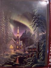 Leanin Tree Christmas Card Set Beautiful Country Church 10 Pk New !