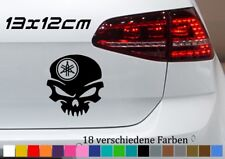 YAMAHA Aufkleber 13x12xcm Totenschädel Tuning Auto Sticker Car Skin Wunschfarbe
