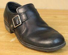 """Eastland """"Open Road"""" Size 9 Black Leather Shoes Slip-on w Buckle Block Heel"""