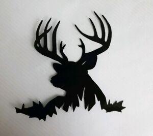"""2x Deer Stag Reindeer Car Van Vinyl Sticker Decal Window Campervan 3"""" Black"""
