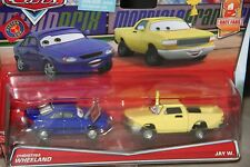 "DISNEY PIXAR CARS ""2-PACK CHRISTINA WHEELAND  / JAY W."" NEW IN PACKAGE"