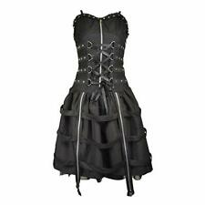 "Poizen Industries Tokyo Night Dress Gothic Corset Lolita Size Large 32"" UK 10/12"
