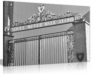 Liverpool Football You'll Never Walk Alone Canvas Wall Art Picture Print Home