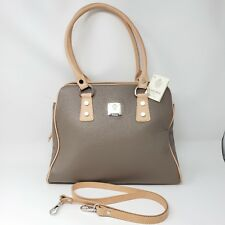 I MEDICI FIRENZE FLORENCE ITALIAN LEATHER BROWN CROSSBODY TOTE HANDBAG NWT