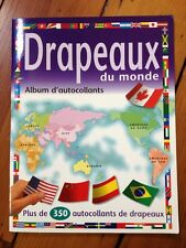 Flags of the World Drapeaux du Monde French Sticker Book Scholastic 2009