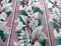 SALE! Cottage Blush Pink Tropical Barkcloth Vintage Fabric Drape Curtain 6 Avail