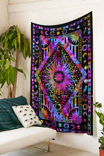 tie dye tapestry diy sun moon and earth tapestry hippie bohemian bedding decor