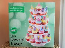 """Wilton 4-Tier Stacked Cake Dessert Display Tower Stand 307-856 16"""" Tall Party"""