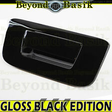 07-13 SILVERADO SIERRA 1500 GLOSS BLACK Tailgate Handle Cover No Keyhole No Cam