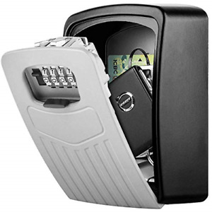 Key Box Lock, BTNEEU Extra Large Combination Key Box, Outdoor Key Safe Wall Key