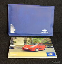 GENUINE CHEVROLET MATIZ HANDBOOK OWNERS MANUAL WALLET 2005-2010 K-812