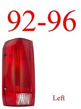 92 96 Ford Left Tail Light Assembly, F150, F250, 97 & 98 F350, Truck, Bronco