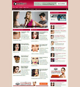 MAKE UP AFFILIATE WEBSITE WITH NEW DOMAIN + HOSTING + SSL CERTIFICATE