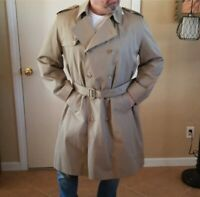 Vintage 1980s Misty Harbor Lined Tan Trench Coat