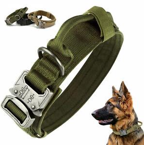 Taktisches Hundehalsband mit Griff K9 Militär Nylon Halsband Gepolstert PITBULL
